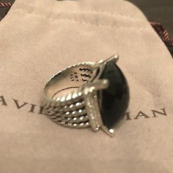 14e1b83341728 20mm x 15mm Black Onyx Wheaton Ring. NWT. David Yurman